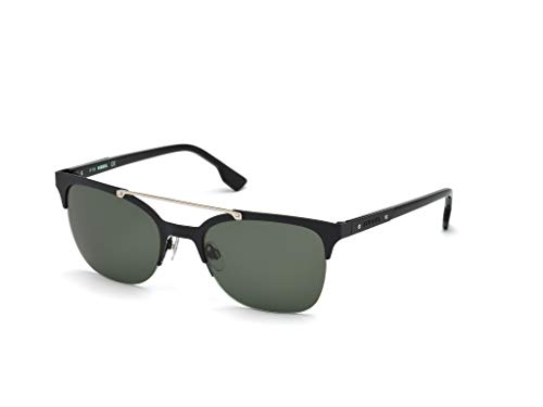 Diesel Dl0215 Round Sunglasses, Black, 54 mm