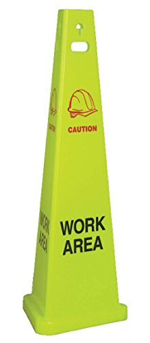 National Marker Corp. TFS303 Work Area Trivu 3-Sided Safety Cone