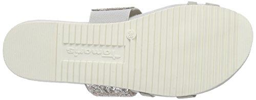 Tamaris 27132, Women's Mules Grey - Grau (Grey Comb 221)