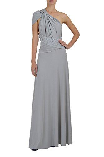 Von Vonni Infinity Transformer Dress,Silver,One Size Fits USA 2-10