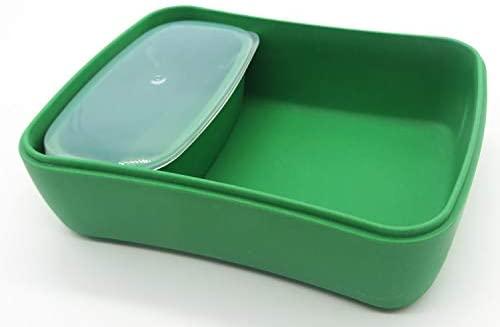 Conjunto Sandwichera y Tupper de bambú. Material ecológico sin BPA, Apto para lavavajillas. Lonchera Infantil, niños, bebé (Animales)
