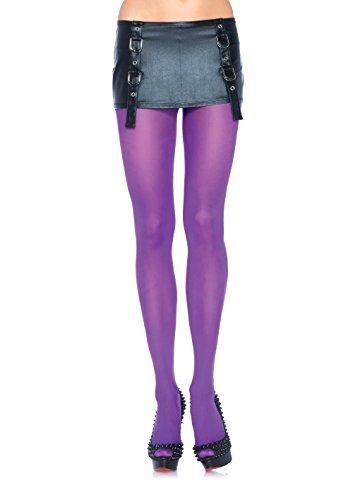 Leg Avenue Women's Nylon Tights, Purple, One (Purple Tights)