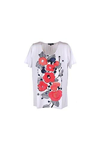 T-shirt Donna Fleurs D'anis XL Bianco F47431 Primavera Estate 2017