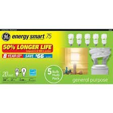 Ge Energy Smart 20-watt White Spiral CFL Light Bulbs 5-pk.