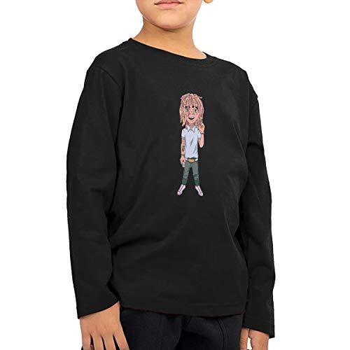 Dibujo Animado De Lil Pump Children's Cotton Long Sleeve T-Shirt Toddler Tshirt Boys & Girls Tee for Kids Black ()