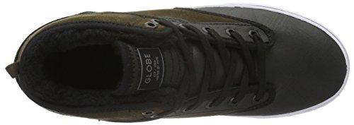 Fur Hombre Motley Zapatillas Mid Black Globe Multicolor Choco 71Bqx