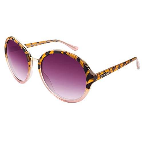 UV-BANS Women Sunglasses Round Polarized Tac UV400 Lens,TR90 Unbreakable Frame (Big-tortoiseshell sunglasses)