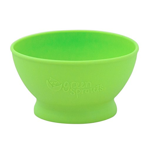 green sprouts Feeding Bowl made from Silicone, Green, 6mo+
