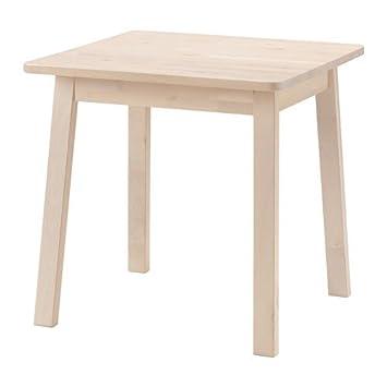 Ikea NORRAKER Tisch aus massiver Birke; (74x74cm): Amazon.de: Küche ...