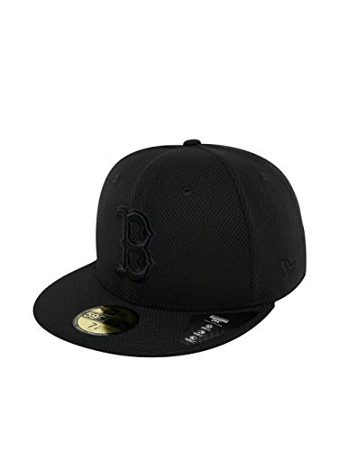 Uomo Red Diamond Bosten nero New Cappellini 59 Cap Sox Nero Era Fitted fitted Mlb Fifty RwS85Y