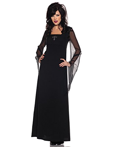 Women's Classic Vampire Costume - Contessa, Black, (Dracula Costume Ideas)