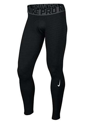 Nike Women's Pro Hyperwarm Max Training Tights, Black/Cool Grey/Volt, -