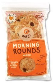 OZERY BAKERY Morning Round Pita Bread, Muesli, 12.7 Ounce (Pack of 6)