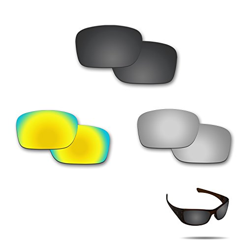 Fiskr Anti-saltwater Polarized Replacement Lenses for Oakley Hijinx Sunglasses 3 Pair - Define Polarized Lenses