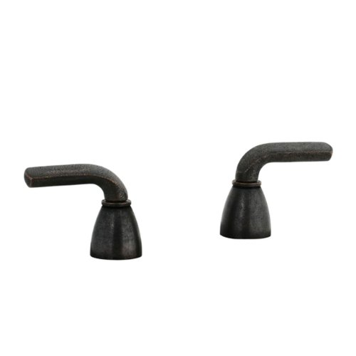 (Cifial 295.670.D15 Stone Mountain Deck-Mounted 2-Handle Shower Valve Trim, Distressed Bronze)