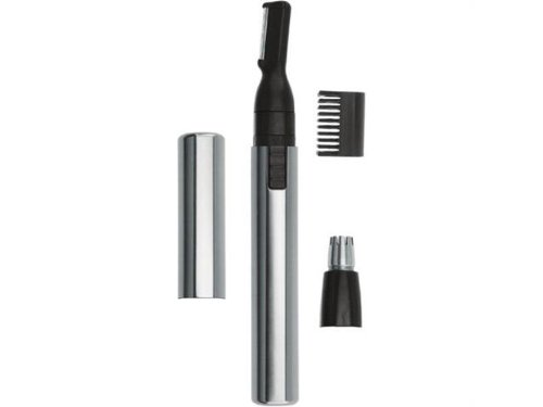 (Wahl Micro Groomsman AAA Pen Trimmer, Detailing Head, Ideal for Detailing Bikini Areas, Sideburns, Necklines, Goatees, and Mustaches, Plus Eyebrow Attachment to Create Shorter Eyebrow Lengths-hassle Free, Plus Rotary Head, Ideal for Unwanted Nose and Ear Hair)