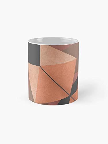 Texured Design - Texured Rose Gold Mug - 11oz Mug - Made from Ceramic