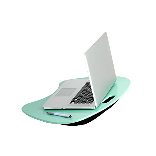 (Honey-Can-Do TBL-03540 Portable Laptop Lap Desk with Handle, Mint, 23 L x 16 W x 2.5 H)
