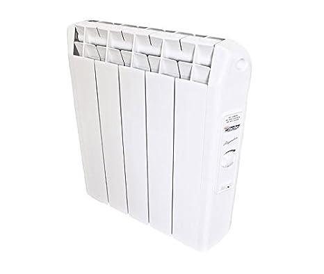Radiador eléctrico con fluido con 3 elementos calefactores y termostato analógico Calentador 330 W para habitaciones ...