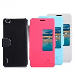 NILLKIN Fresh Series Flip Leather Case For Huawei Honor 6 --- Color:Black