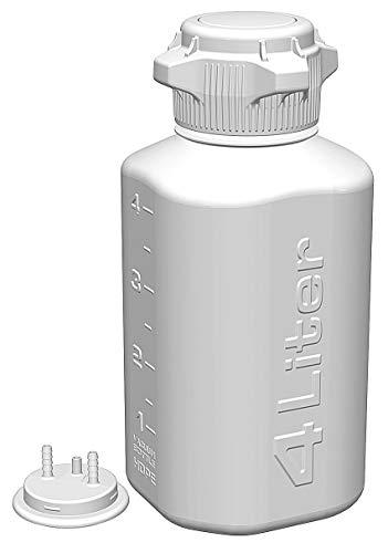 Foxx Life Sciences 4L High Density Polyethylene Vacuum Bottle, Translucent, 1EA - (High Density Vacuum)