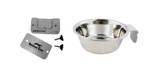 Kennel-Gear Bowl with Stainless Steel Yoke, 2 -Quart