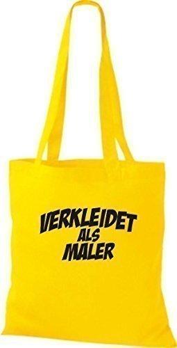 ShirtInStyle Bolsa de tela Carnaval verkleidet como Maler, Disfraces vestir, muchos colores amarillo