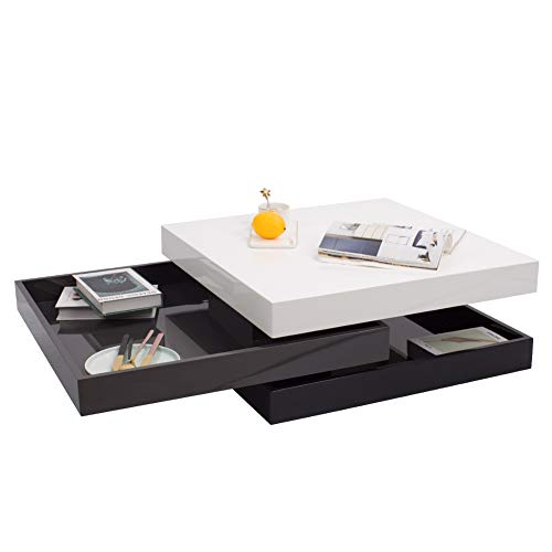 Incredible White Black High Gloss Coffee Table 3 Tier Wood Suqare Cjindustries Chair Design For Home Cjindustriesco