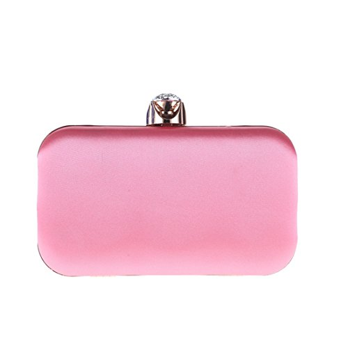 Banquet Part Embroidery Cocktail Craft Dress Fashion Purse Evening Bag Pink Fabric JESSIEKERVIN Bag Pearl Clutch wx170qnnp