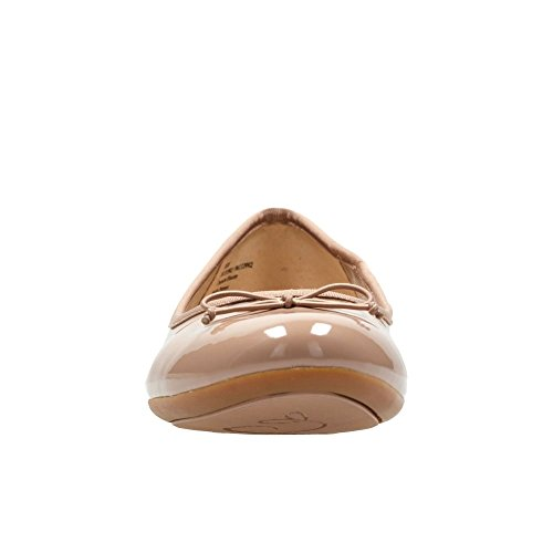 f1cfed27a4a1 Clarks Couture Bloom Womens Extra-Wide Ballet Pumps 9 Nude Patent   Amazon.co.uk  Shoes   Bags