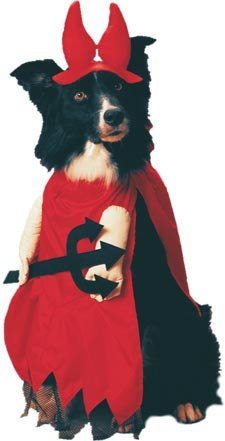 Pet Red Devil Dog Halloween Costume For Large Dogs