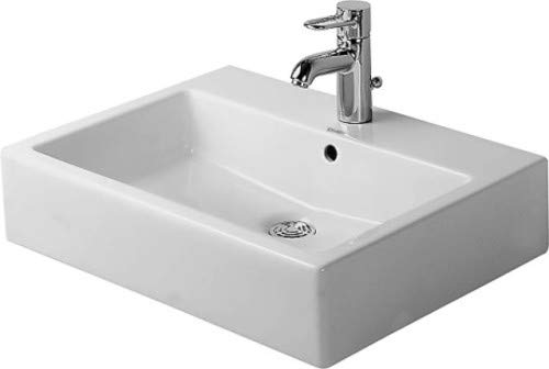 (Duravit 0454600087 - Washbasin 600mm Vero white with of, with tp, 3 th)