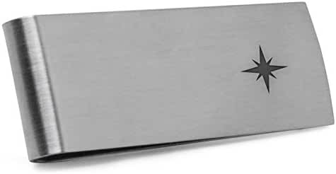 North Star Money Clip   Stainless Steel Money Clip Laser Engraved In The USA.