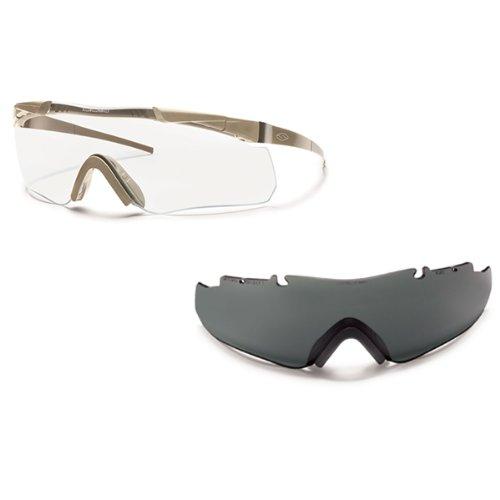 Smith Optics Elite Aegis Echo Asian Fit Eyeshields, Clear/Gray, Tan 499