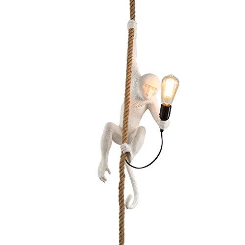 Creative Monkey Pendant chandelier,Decoration Led Hanging lighting fixtures Hemp rope Ceiling light fixture Children's room Bar Restaurant For e27-A Children Height Food Bar