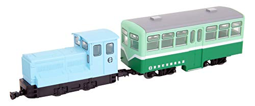 Tetsudou Collection Narrow Gauge 80 Tomibetsu Simple Track Diesel Locomotive + Passenger Car Trailer Set