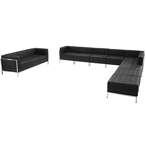 Series Sectional Sofa - Flash Furniture HERCULES Imagination Series Black Leather Sectional & Sofa Set, 10 Pieces