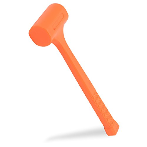 Neiko 02847A 2 LB Dead Blow Hammer, Neon Orange I Unibody Molded | Checkered Grip | Spark and Rebound Resistant by Neiko