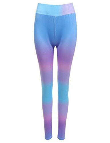 Teamyy Mujer Moda Pantalones de YOGA Gimnasia Leggings Fitness Elásticos Medias Deportivas Multicolor