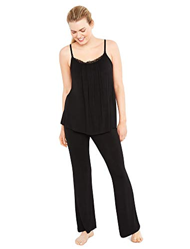A Pea in the Pod Bow Detail Maternity Sleep Pants Black