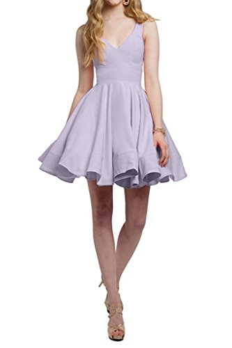 Tanzenkleider Violett Mini Cocktailkleider V La Ausschnitt Heimkehr Einfach Braut Lilac Marie Abendkleider Partykleider 8wYYEqP