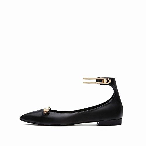 Plat S 'Mot Femmes' Peu de Et Bouche Printemps Simples Plat Femmes des Chaussures C Profonde Les avec Chaussures D'Été Chaussures Boucle Simple CWJ Yqxz77