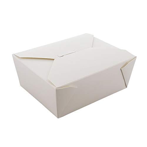 Royal #8 White Folded Takeout Box, 6