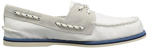 Nautical on White Slip Authentic Shoes Sperry Original 2 Eye wURgnqH