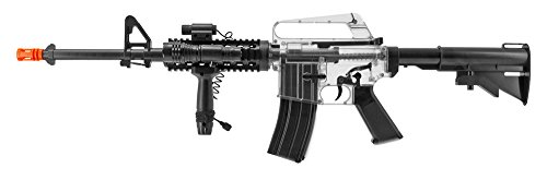 Colt M4 and 1911 Airsoft Spring Powered Combo Pack - Smoke