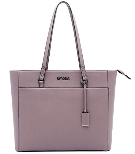 Laptop Tote Bag for Woman,13-15.6 Inch Laptop Briefcase Stand Up on its Own with Padded Compartment [Purple] Photo #2