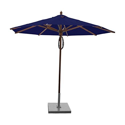 Greencorner Mahogany Octagon Patio Umbrella 9 Foot, Ocean Blue