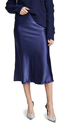 Lioness Women's Bias Midi Skirt, Navy, Blue, X-Small ()