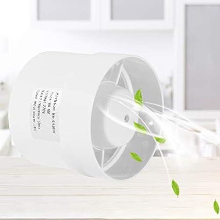 Hon/&Guan Inline Duct Fan Exhaust Ventilation Axial Fan for Hydroponic Grow Tent Metal, 4 Inch