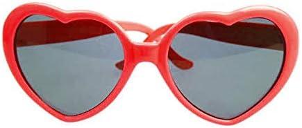 Fashionable Heart Shape Sunglass Plastic Frame UV400 Mirror Unisex Sun Glass Lovely Children Adults Eyewear for Travel Red